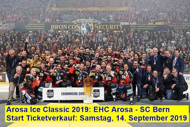 Start Ticketverkauf Arosa Ice Classic EHC Arosa - SC Bern